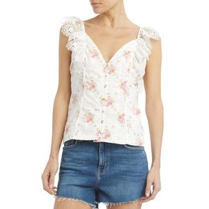 Nightcap Clothing Eliza Eyelet Floral Blouse